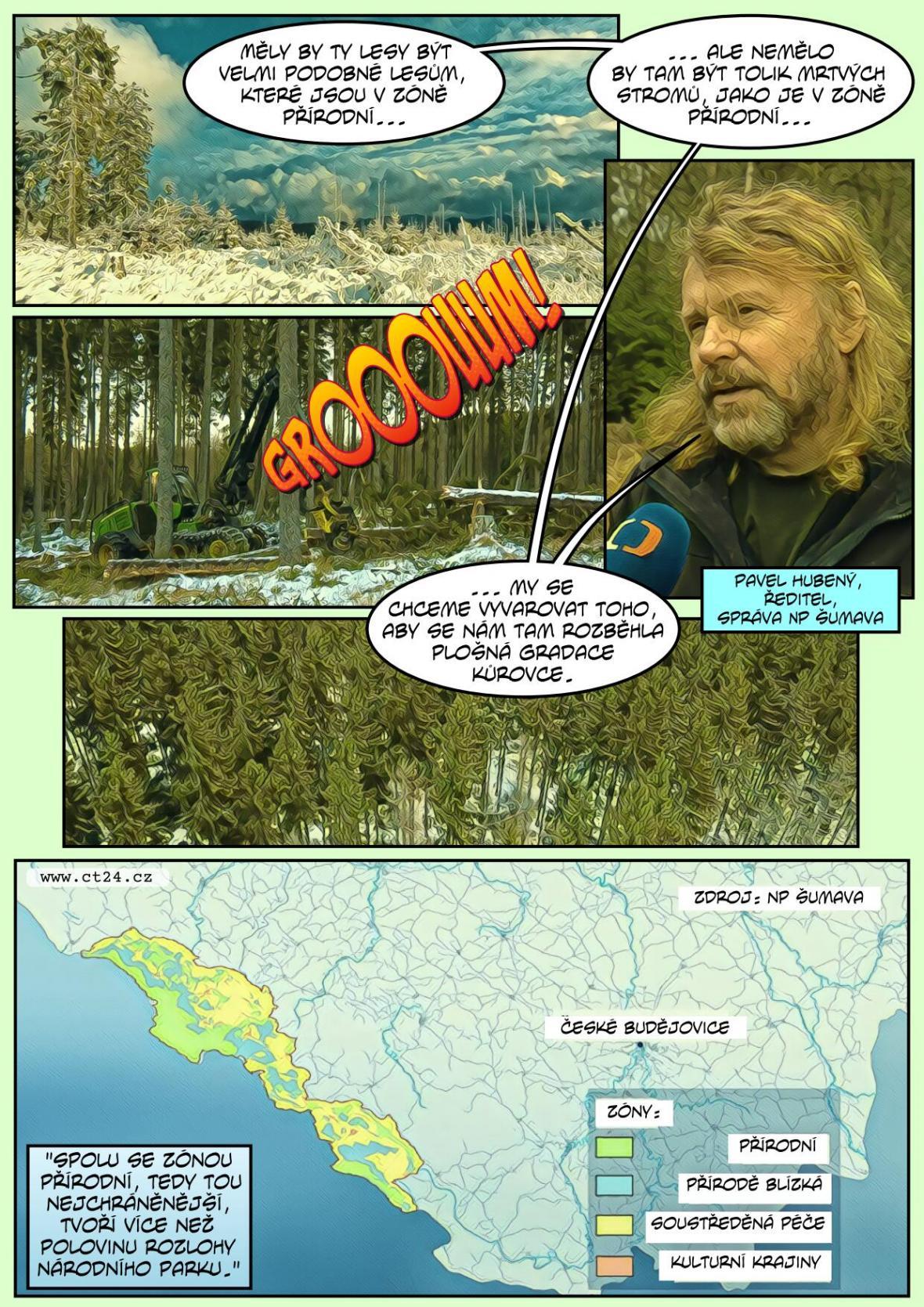 Nová zonace Národního parku Šumava