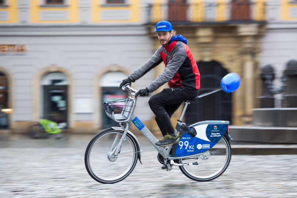 Sdílená kola společnosti nextbike v Olomouci