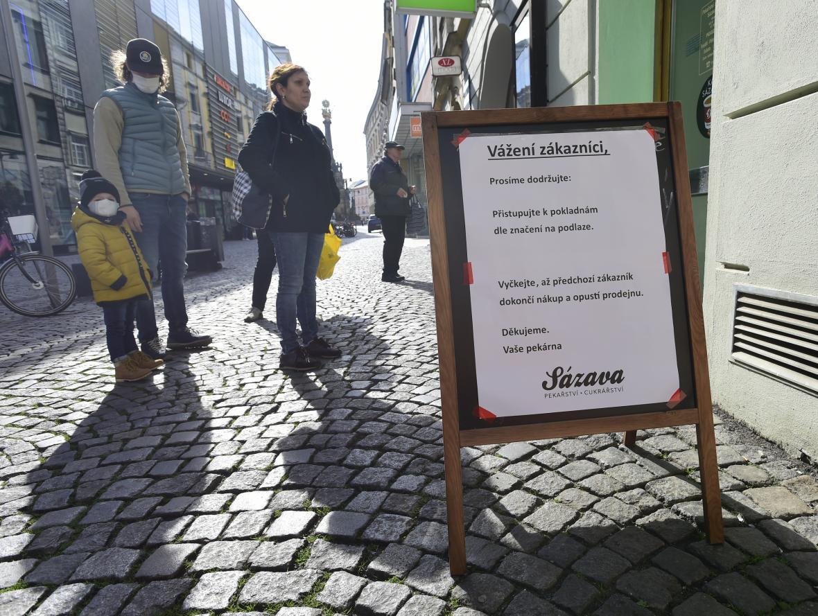 Uzavřené obchody v centru Olomouce