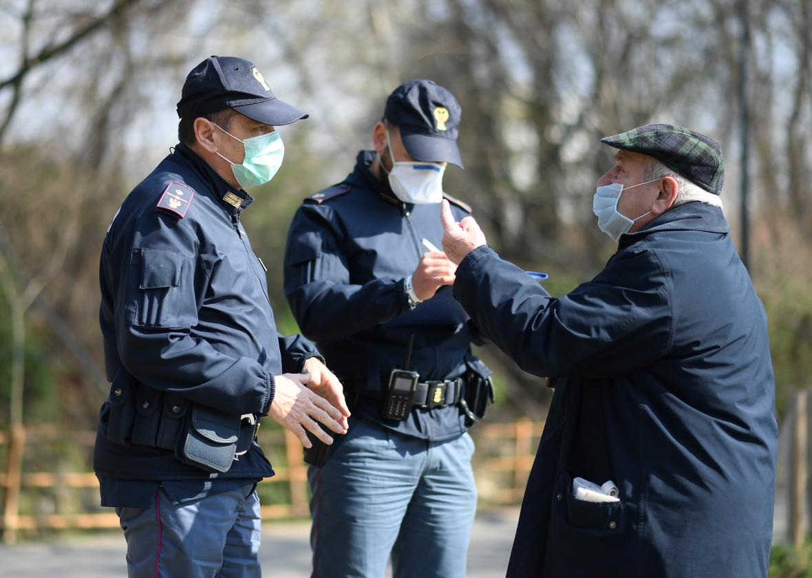 Policejní kontrola na severu Itálie