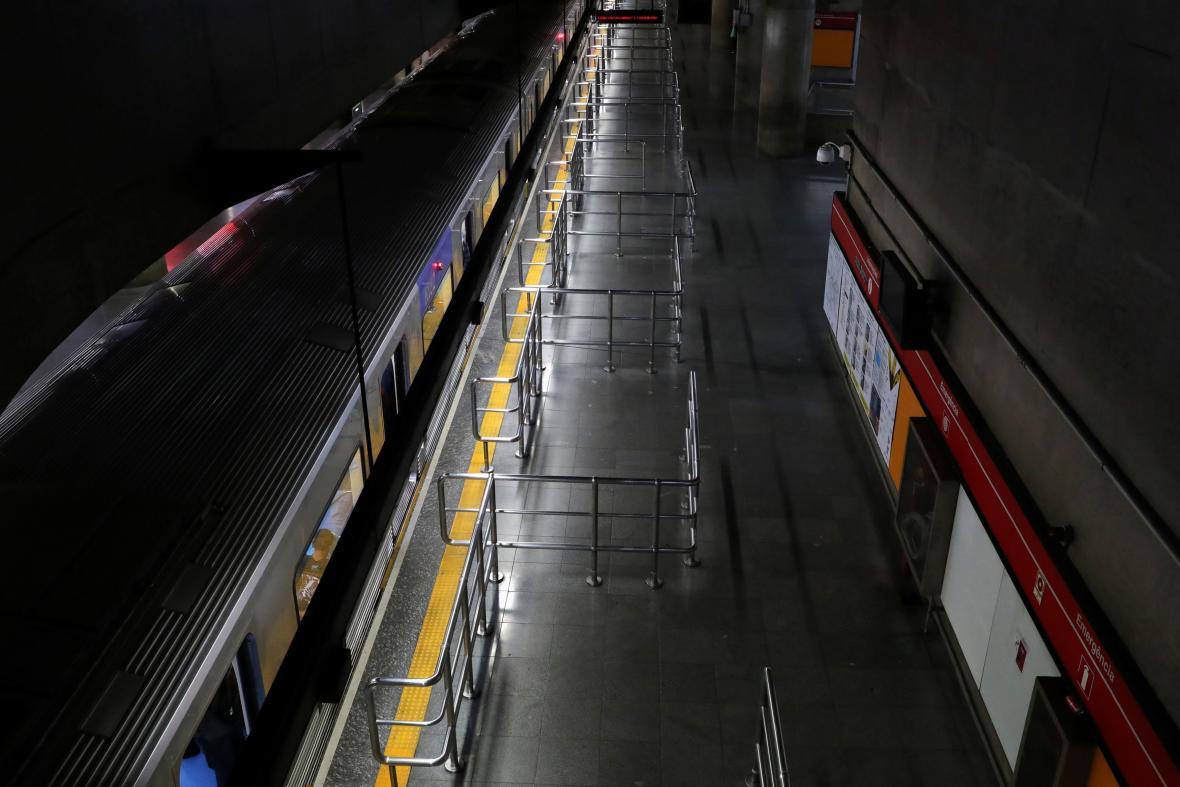 Stanice metra v brazislkém Sao Paulu