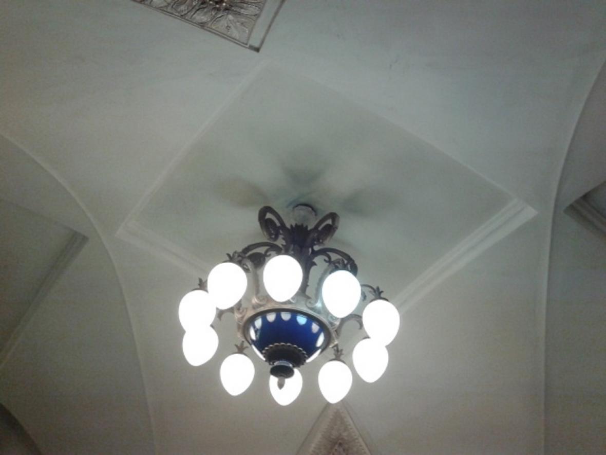 Osvětlení v moskevském metru