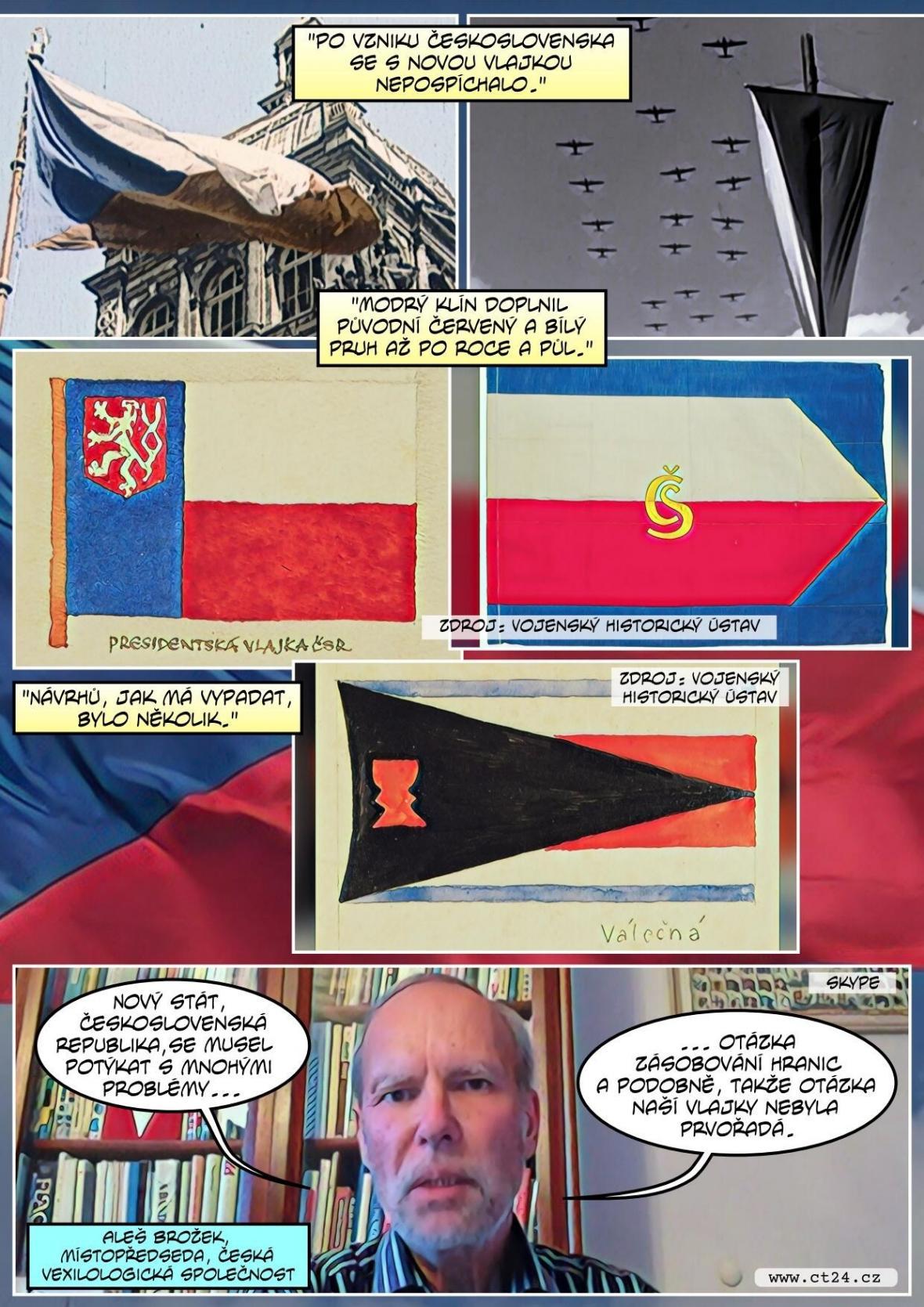 Státní vlajka slaví sto let