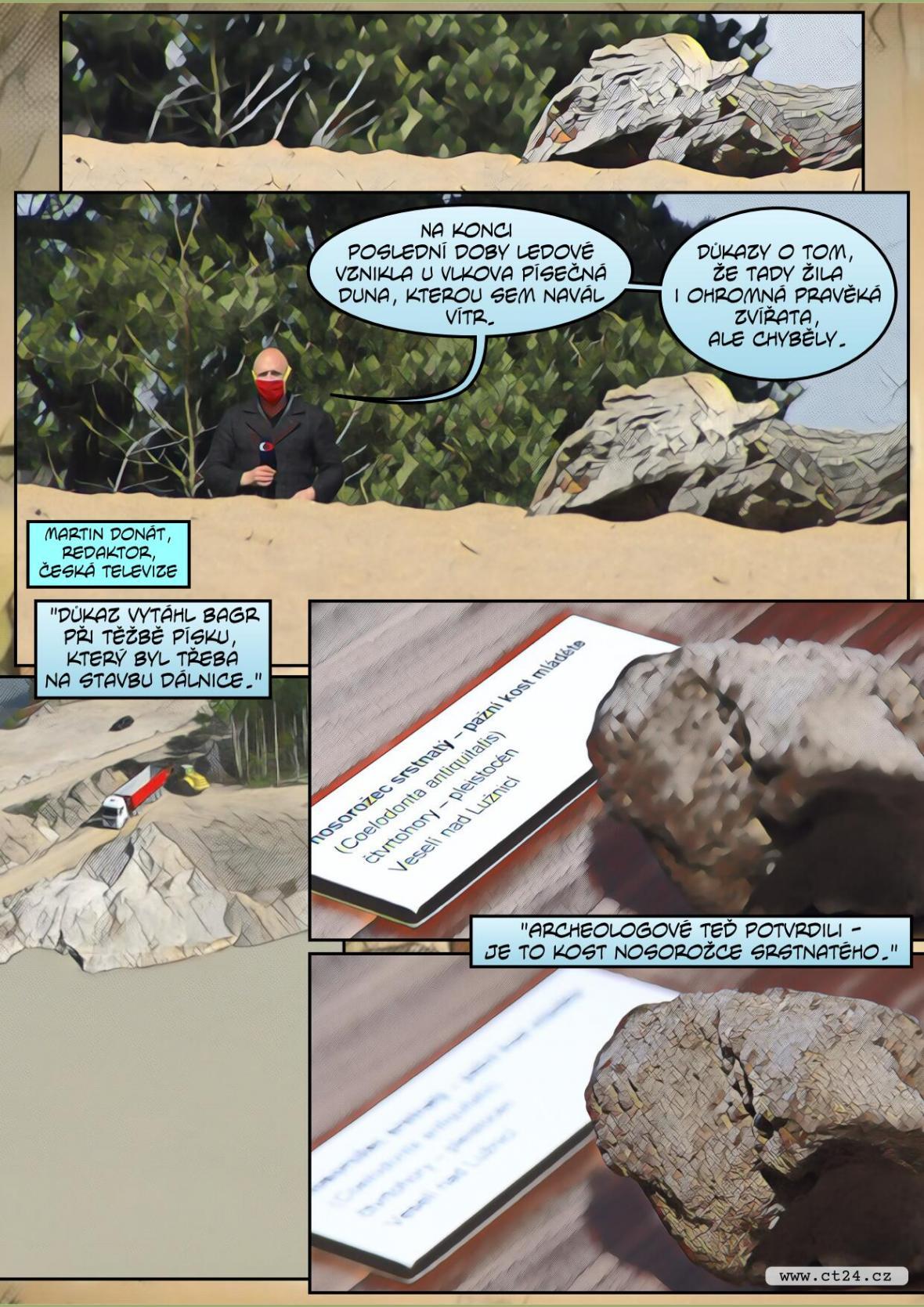 Písek skrýval kost průvodce mamutů