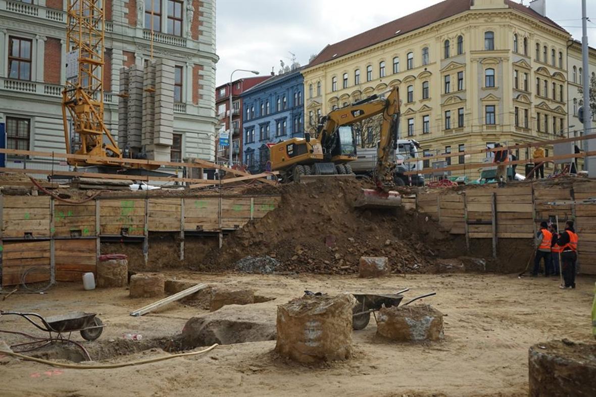 Archeologický průzkum v na rohu ulic Štefánikova a Rybníček v Brně