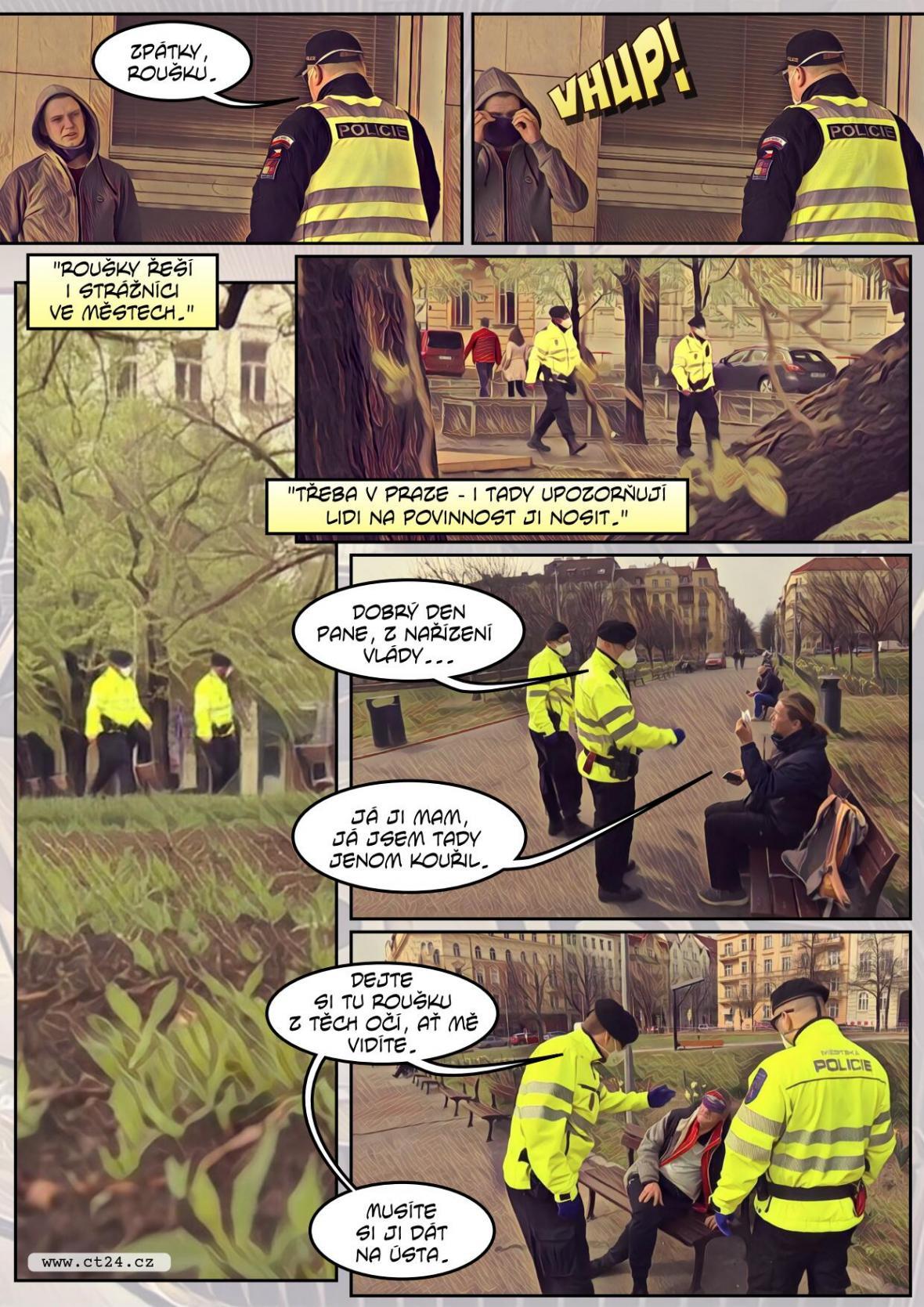 Policisté v první linii. Dodržování pravidel musí hlídat více než kdy jindy