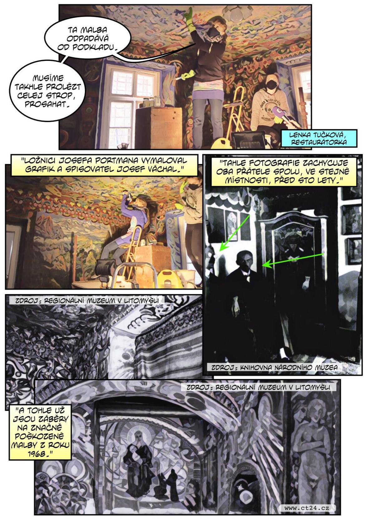 Nástěnné malby procházejí rekonstrukcí