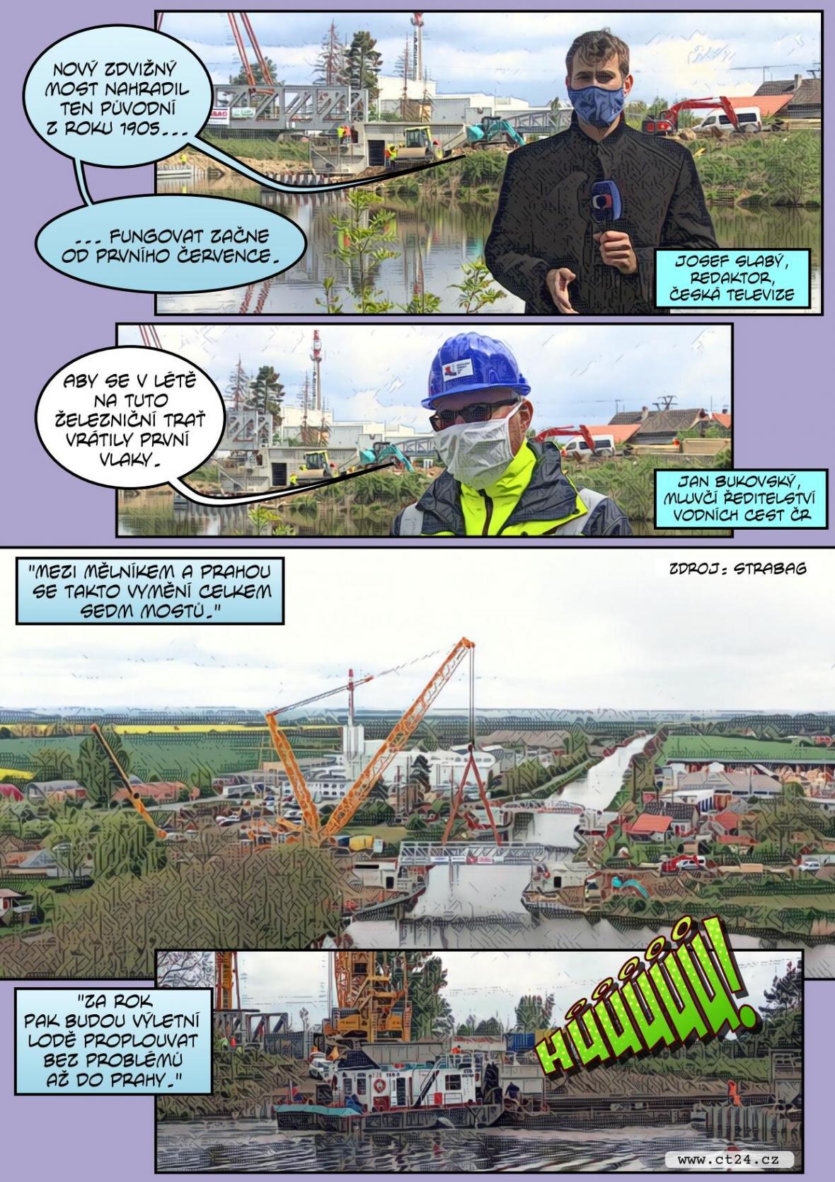 V Česku vzniká první zdvižný most