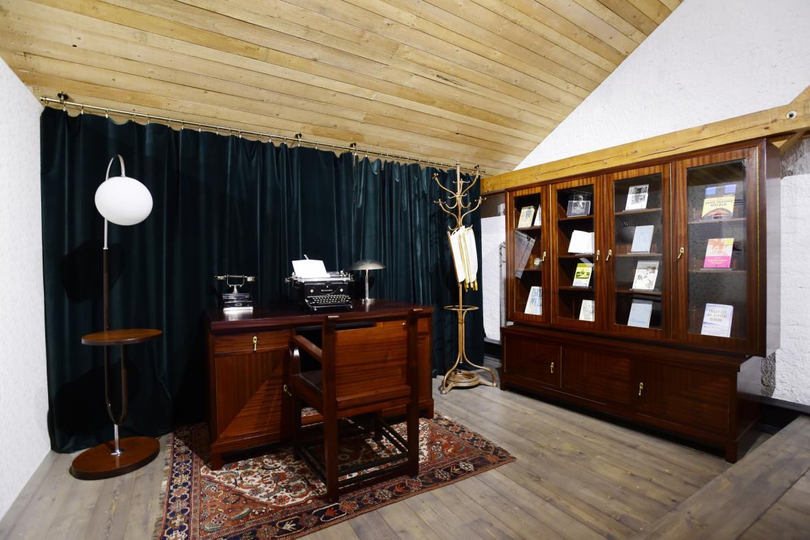 Expozice věnovaná J. E. Welzlovi v Muzeu Zábřeh