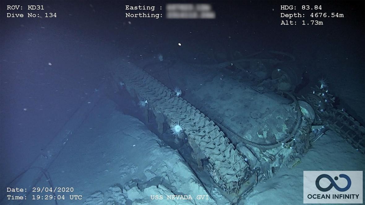 Vrak bitevní lodi USS Nevada