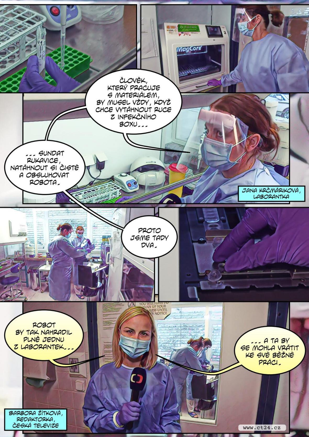 Místo laborantů robot