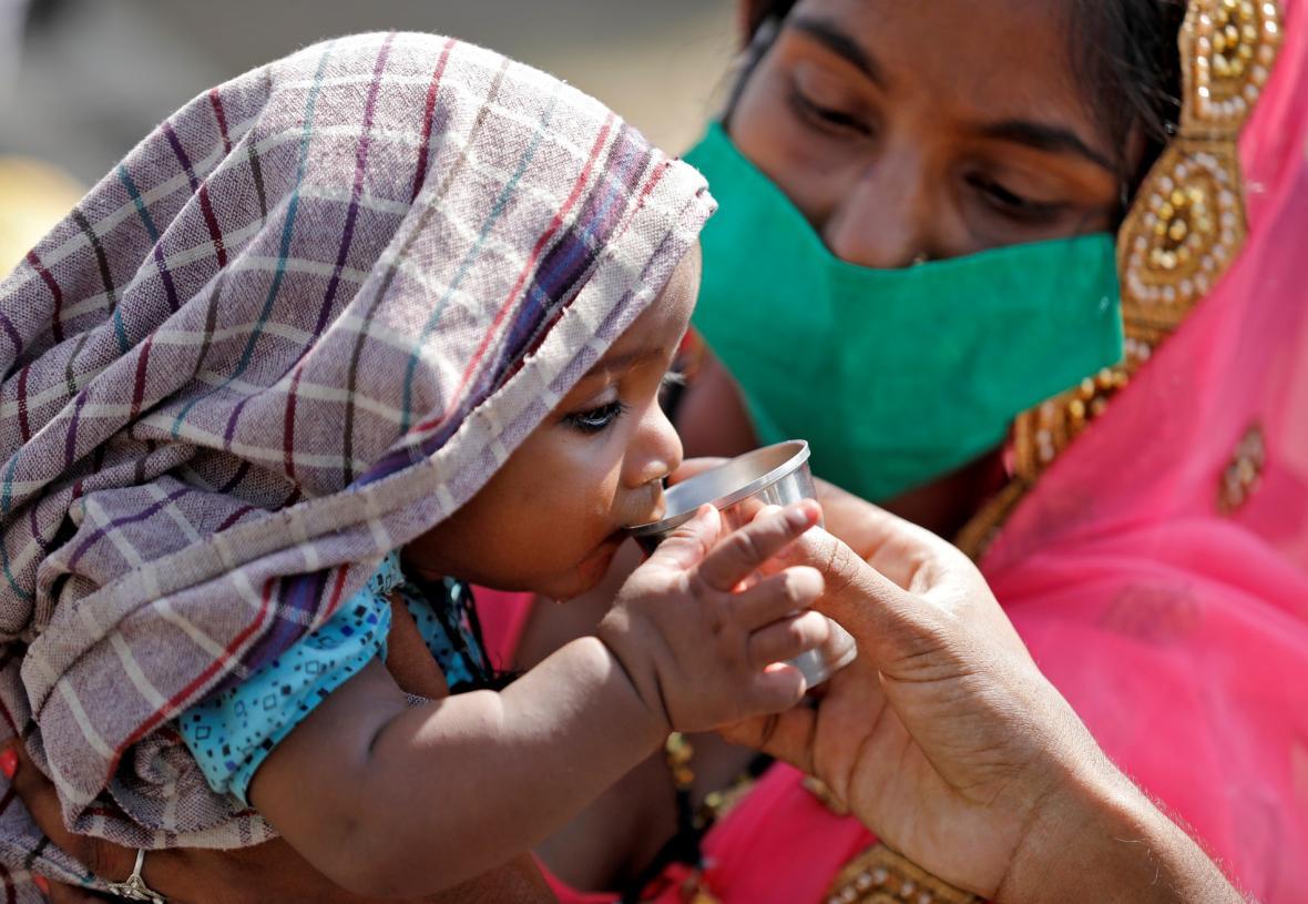 Nouzový stav v Indii způsobený koronaviry