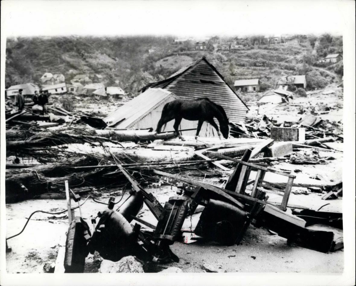 Trosky z bývalé Valdivie - toto město bylo prakticky zničeno.