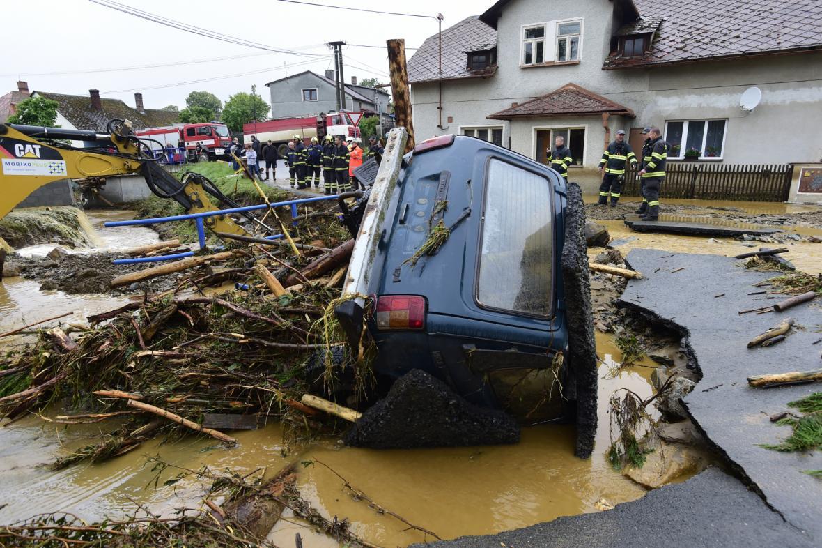 Následky nočních bouřek na Olomoucku
