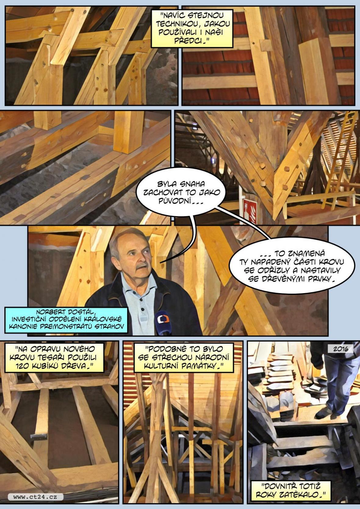 Kostel láká na středověké krovy