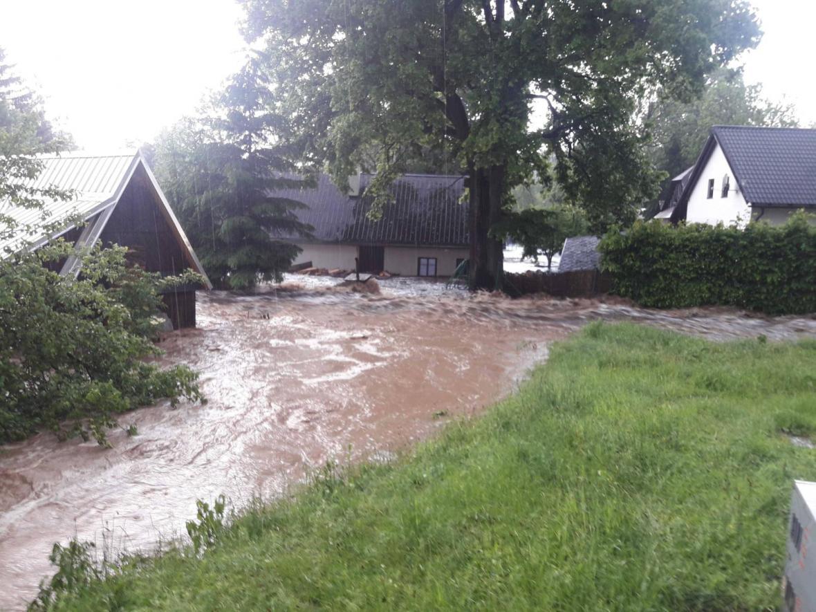 Záplavy na Pardubicku
