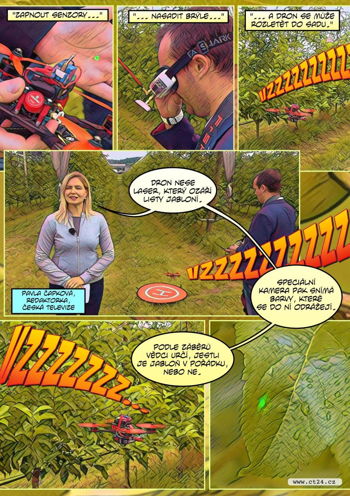 Laserové drony pomáhají zemědělcům