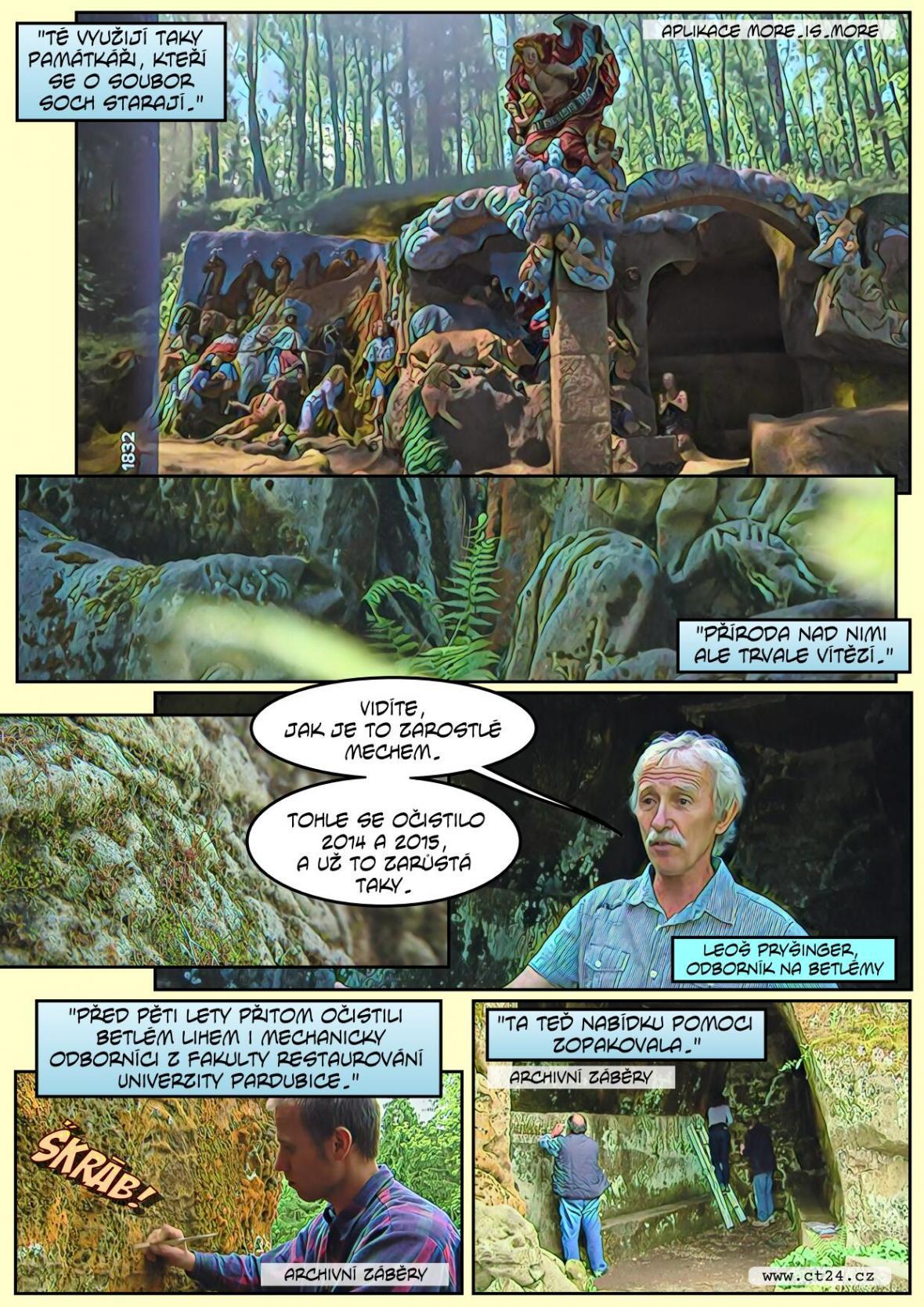 Chátrající skalní betlém očima vědy