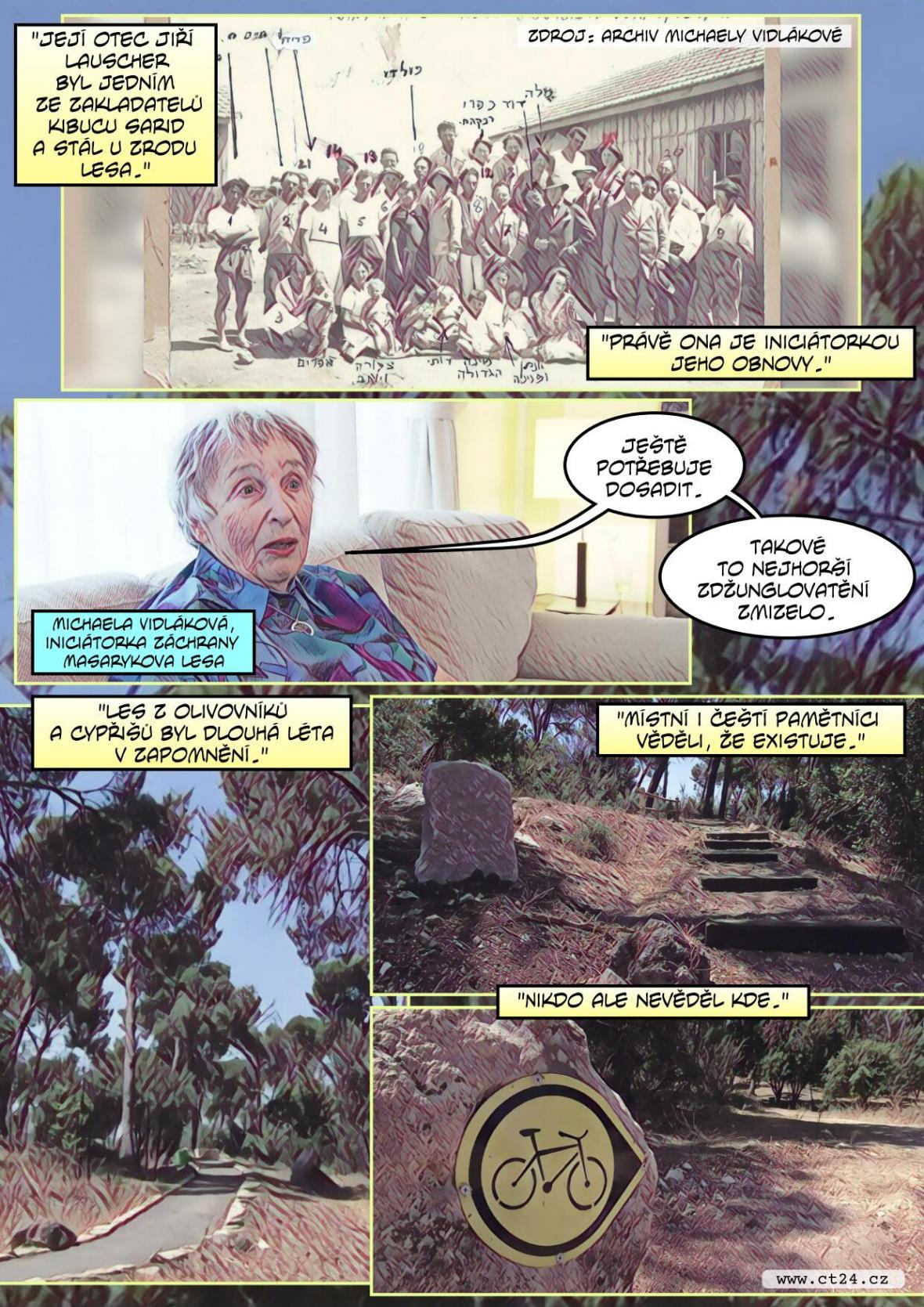 Masarykův les v Izraeli kdysi vytvořili čeští Židé. Nyní jej Češi pomáhali obnovit