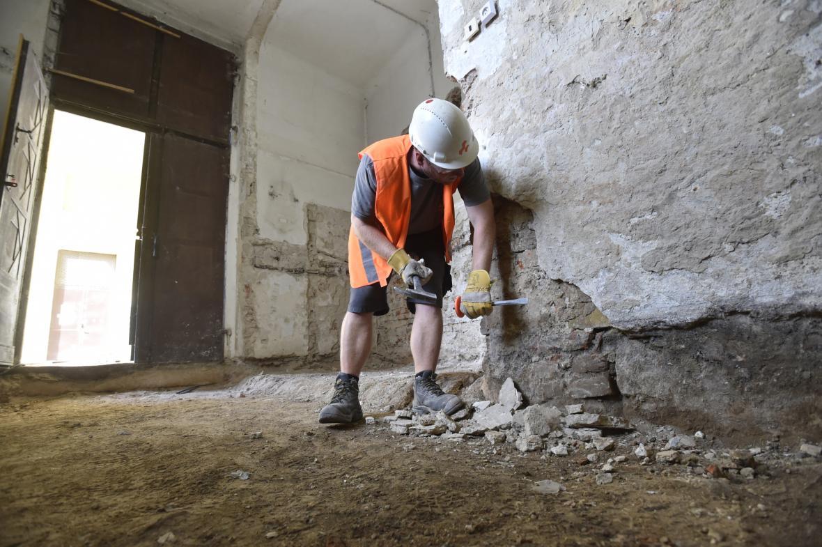 Oprava kroměřížské Mlýnské brány