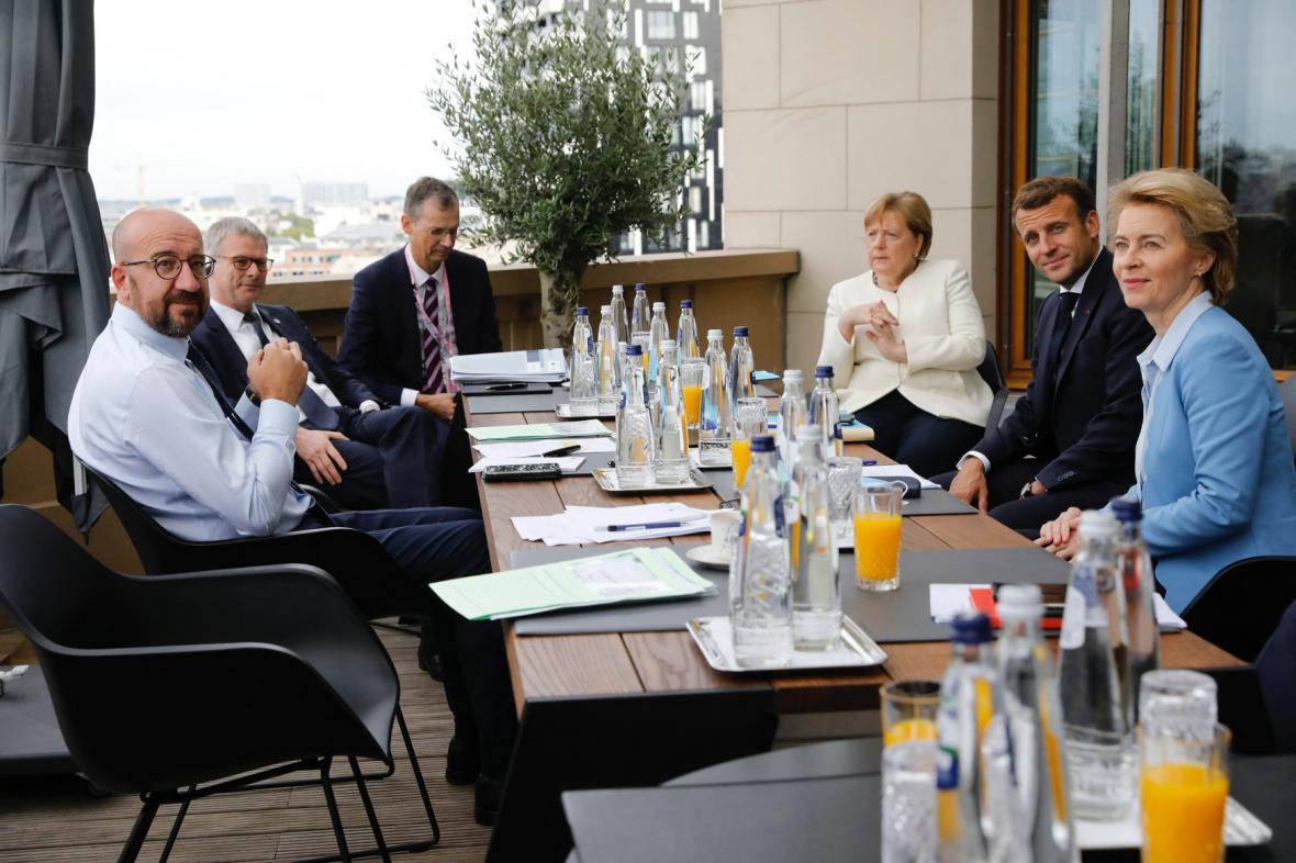 Charles Michel na oddělené schůzce s unijními lídry