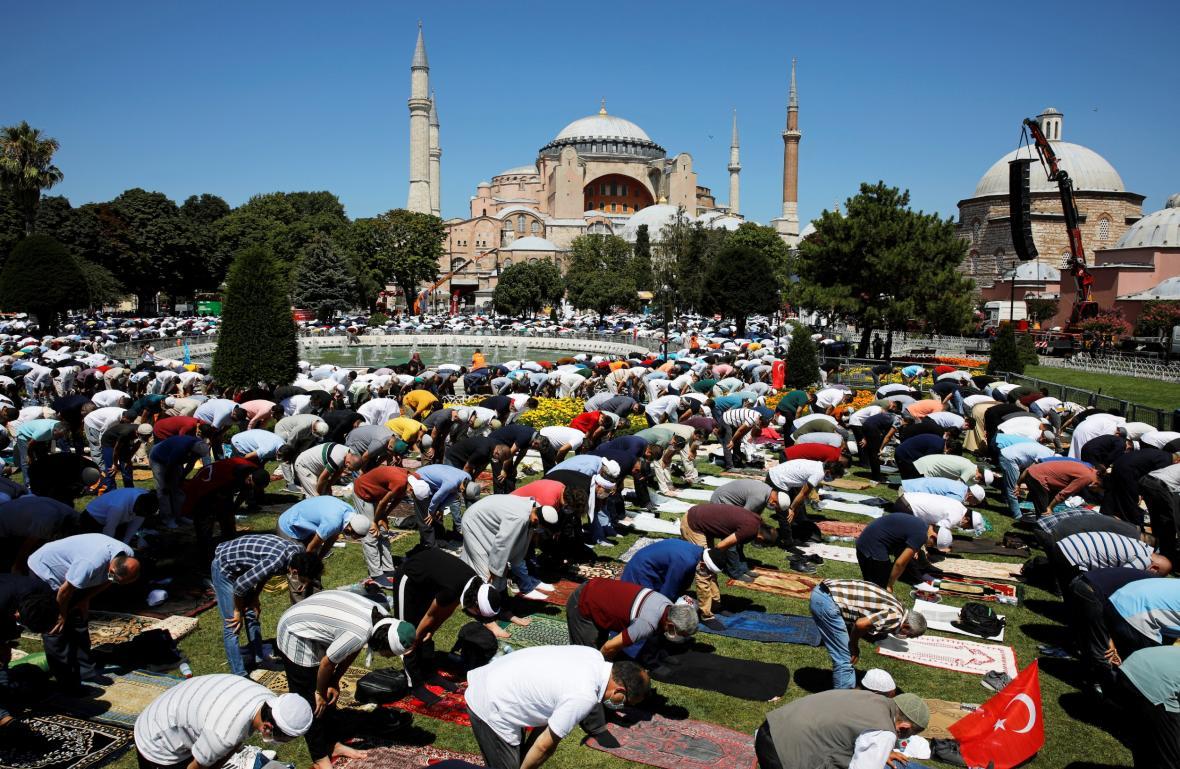 První modlitba v Hagia Sofia