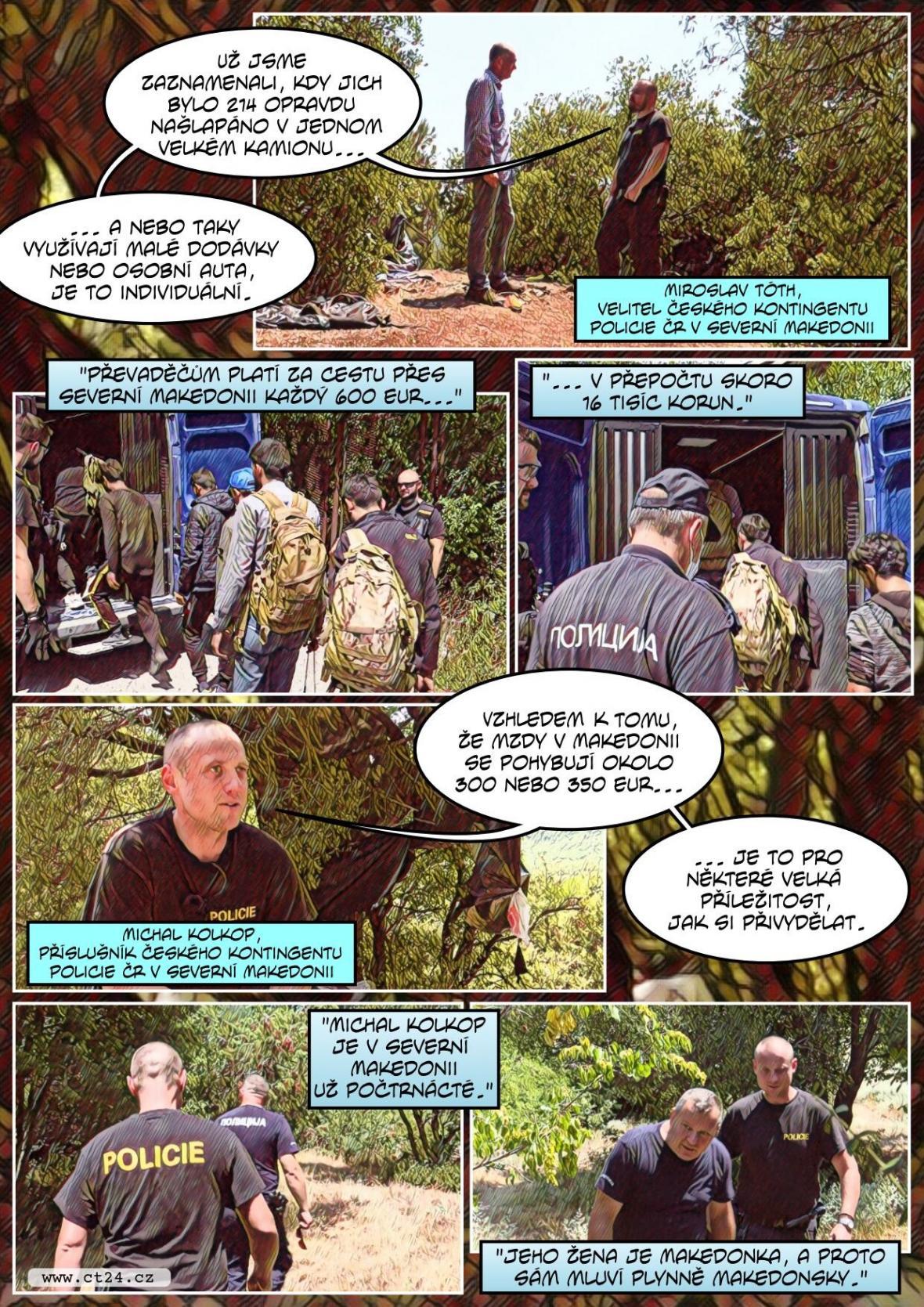 Čeští policisté v Severní Makedonii