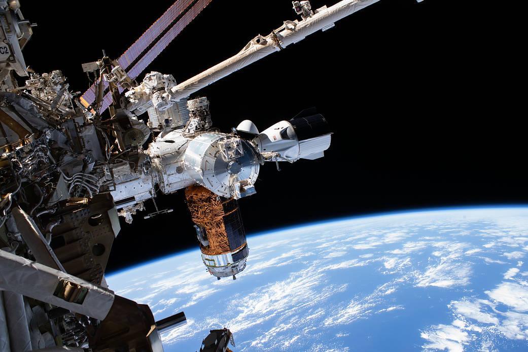 Přistání kosmické loď SpaceX Crew Dragon Endeavour v Mexickém zálivu u pobřežního města Pensacola na Floridě