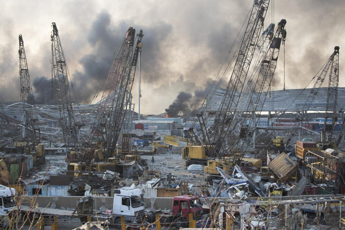 Mohutná exploze v libanonské metropoli Bejrút