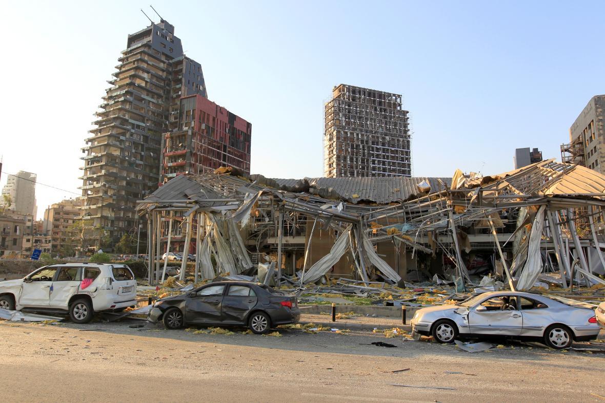 Výbuch v Bejrútu způsobil rozsáhlé škody
