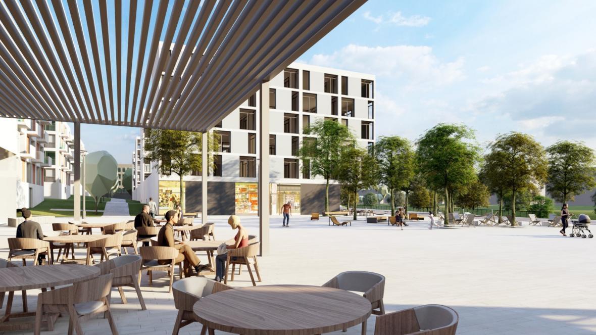 Vítězná urbanistická koncepce pro budoucní využití areálu Krajské nemocnice T. Bati ve Zlíně