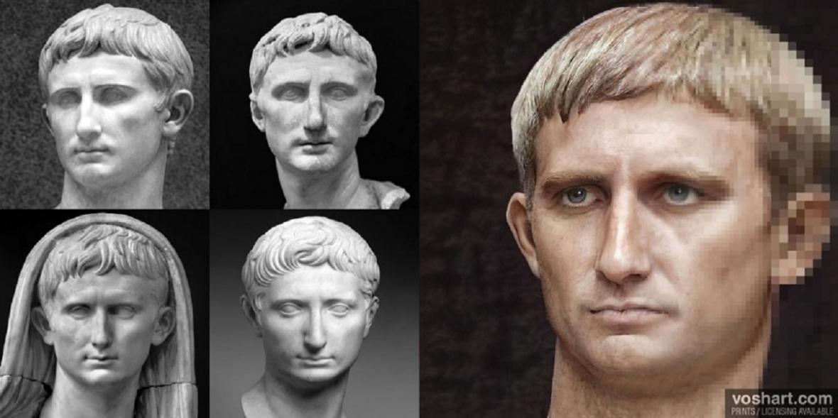 Rekonstrukce podoby římských císařů - Claudius