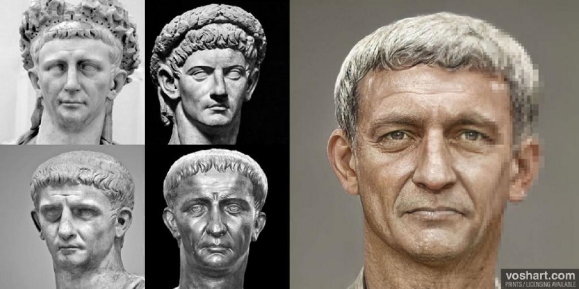 Rekonstrukce podoby římských císařů - Tiberius