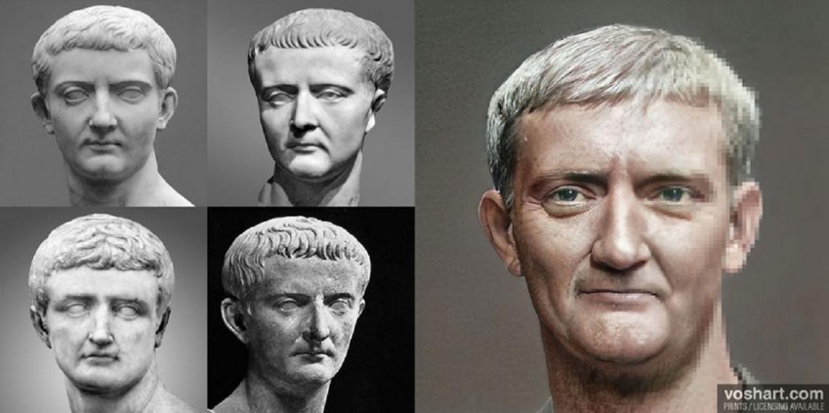 Rekonstrukce podoby římských císařů