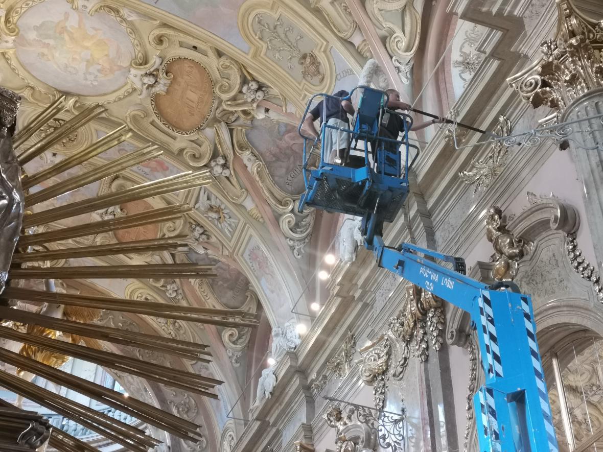 Oprava baziliky na Svatém Kopečku v Olomouci končí
