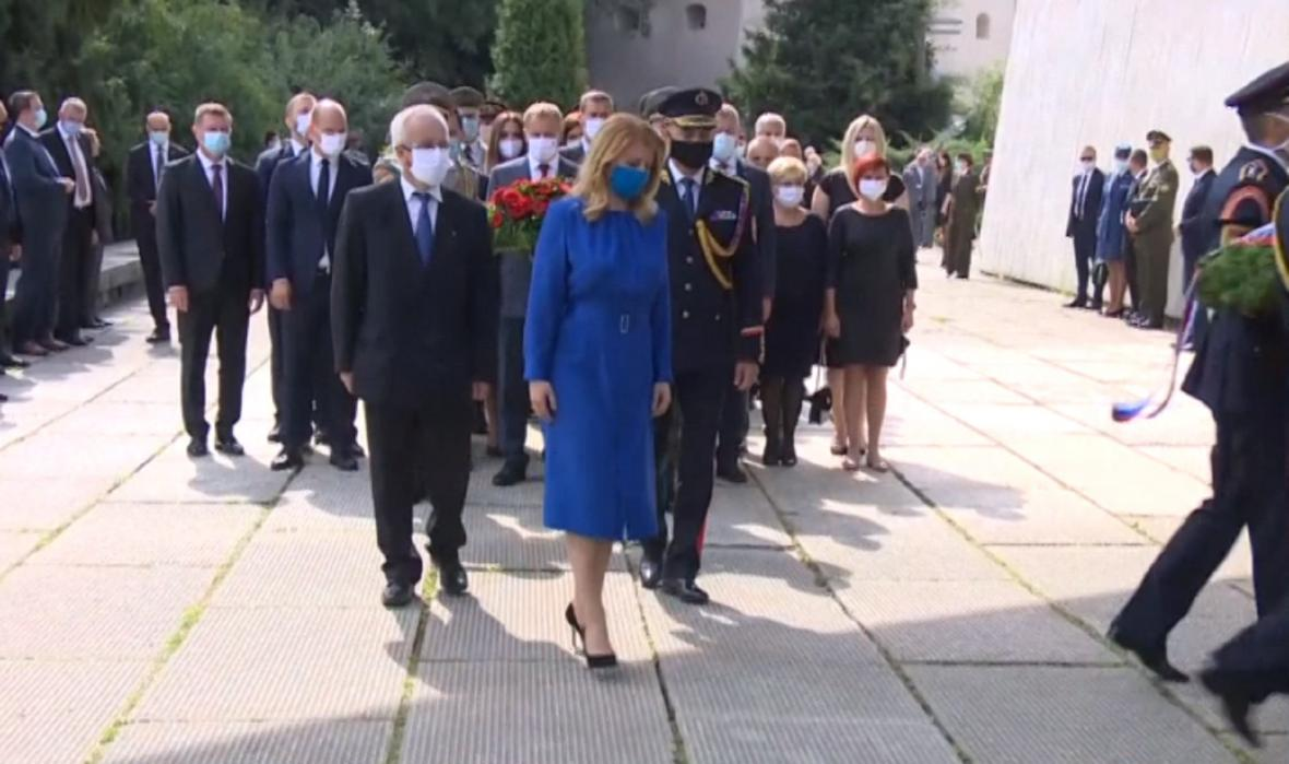 Prezidentka Zuzana Čaputová na oslavách výročí SNP