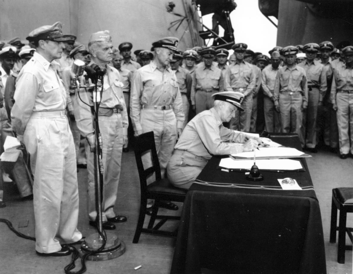 Podpisem kapitulace Japonska došlo k ukončení druhé světové války