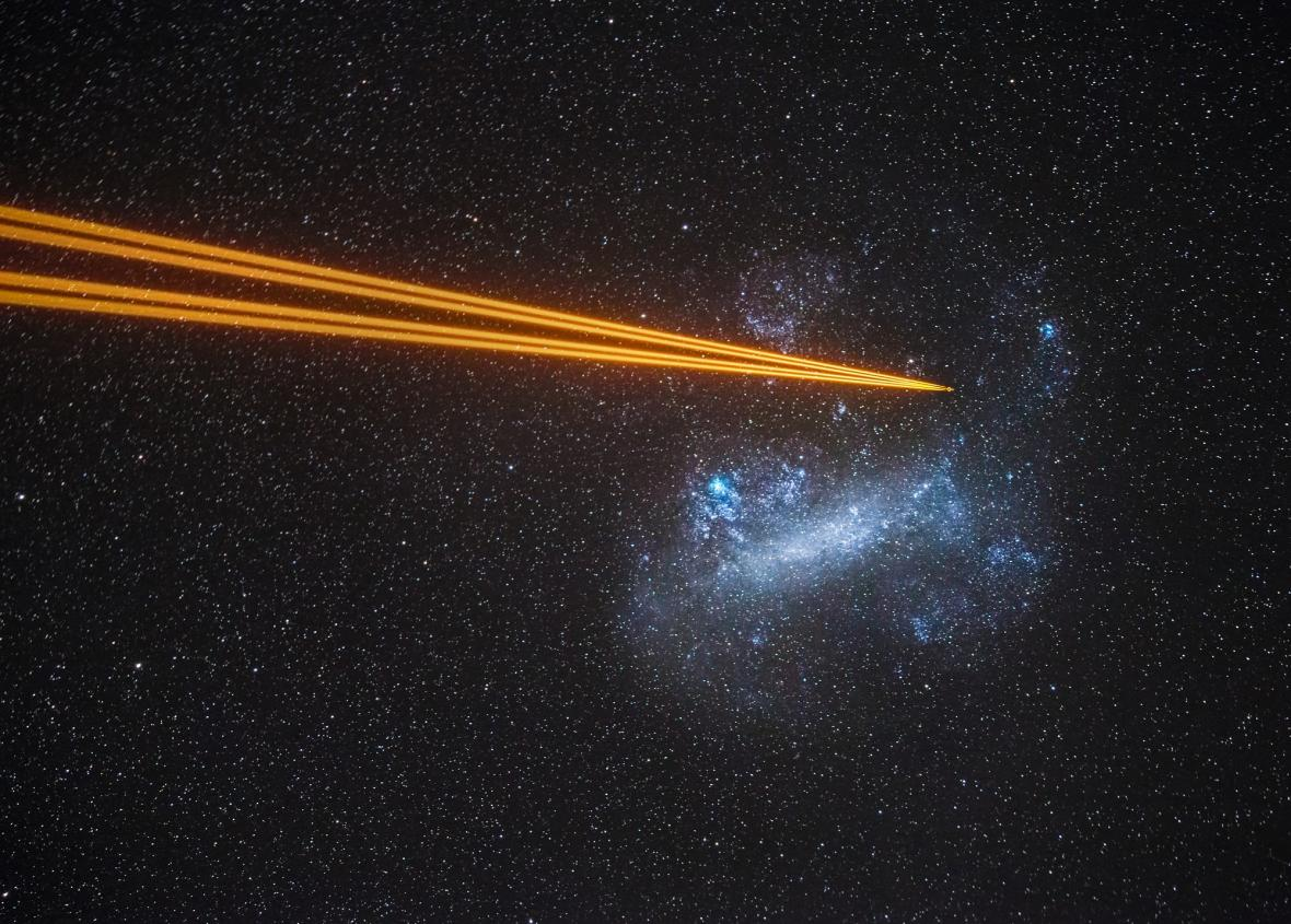 Attack on the Large Magellanic Cloud © Juan-Carlos Munoz-Mateos