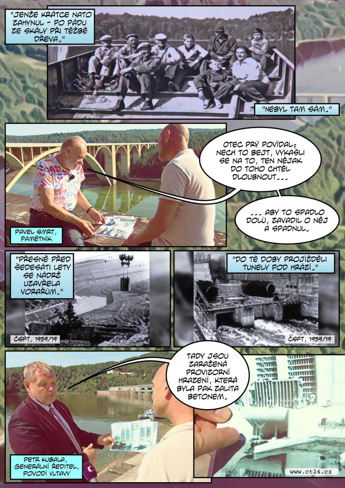 Uplynulo 60 let od zalití osad na dně Orlické přehrady. Nyní se kvůli úpravě koryta Vltavy opět vynoří