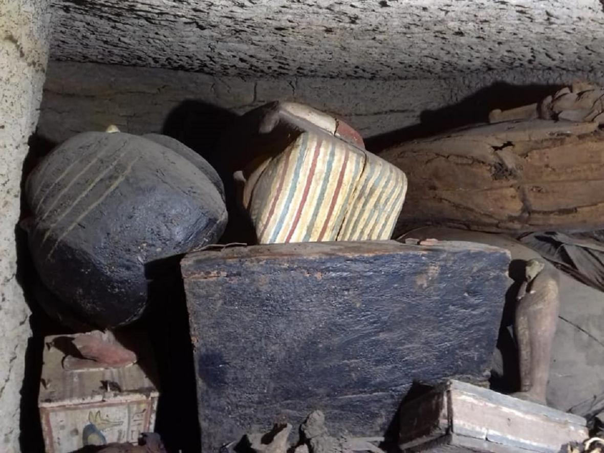 Nově objevené mumie ze Sakkáry