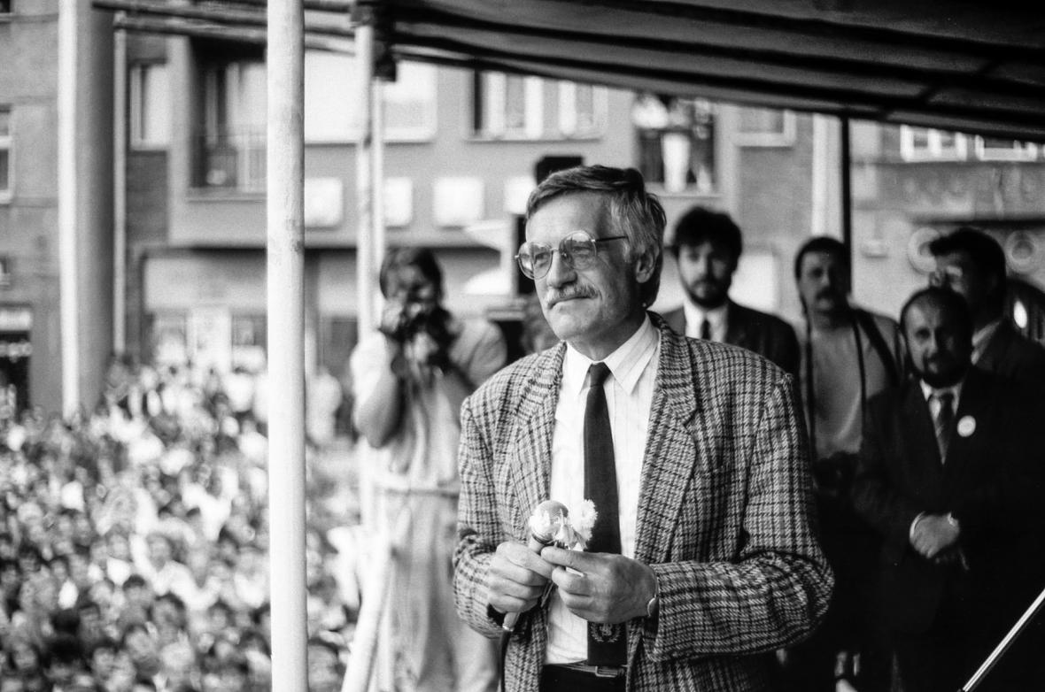Václav Klaus v roce 1990