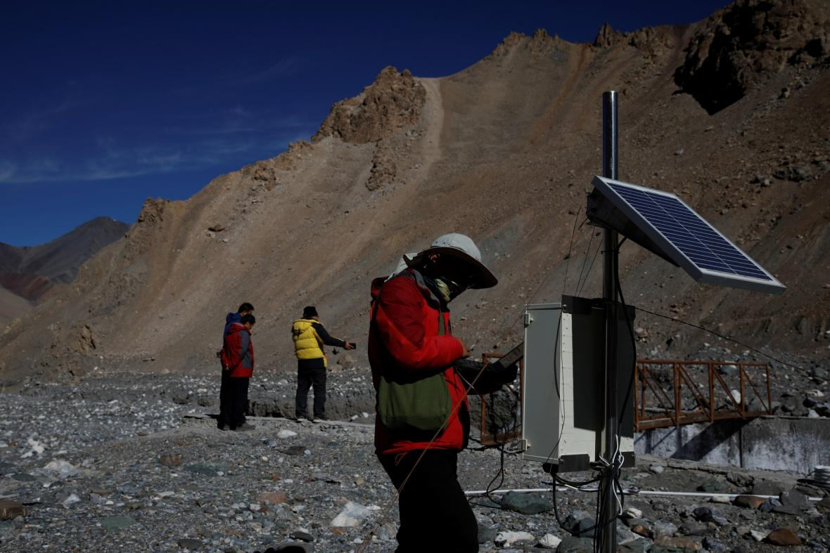 Ústup ledovců v čínských horách Nan-šan