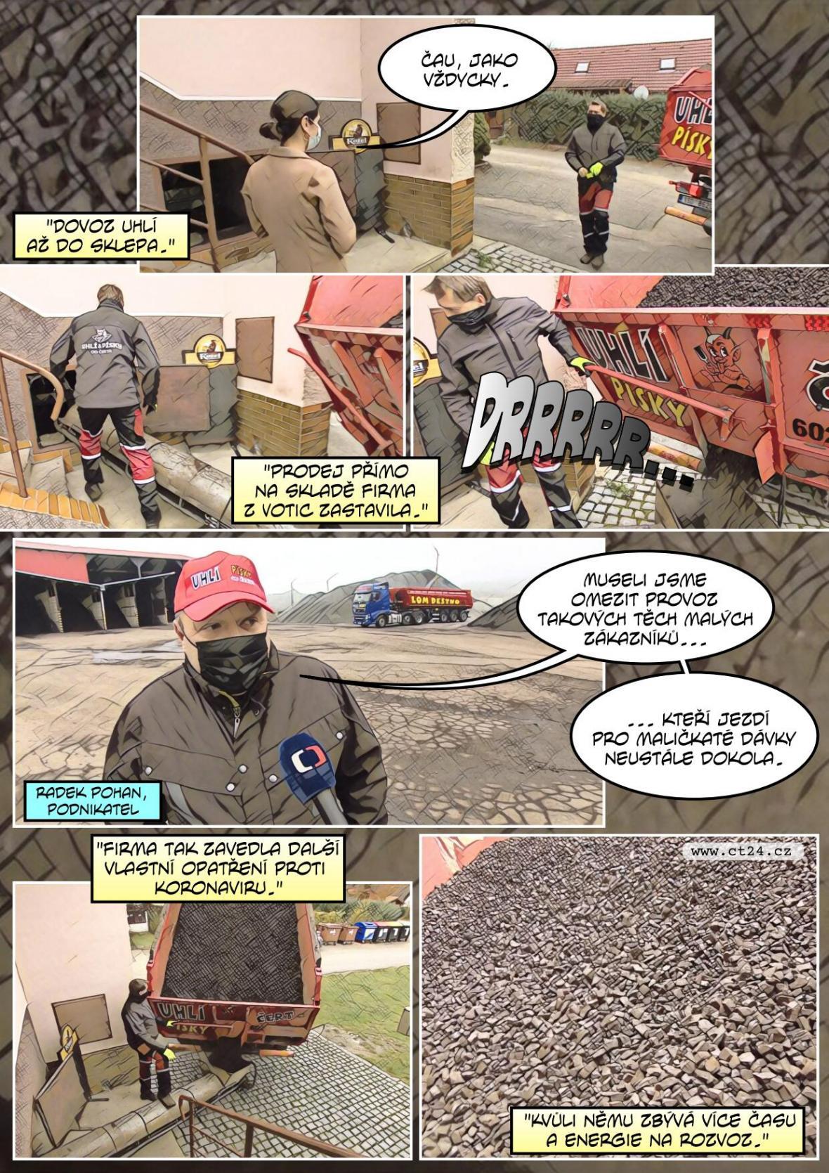 Lidé doplňují zásoby uhlí na zimu