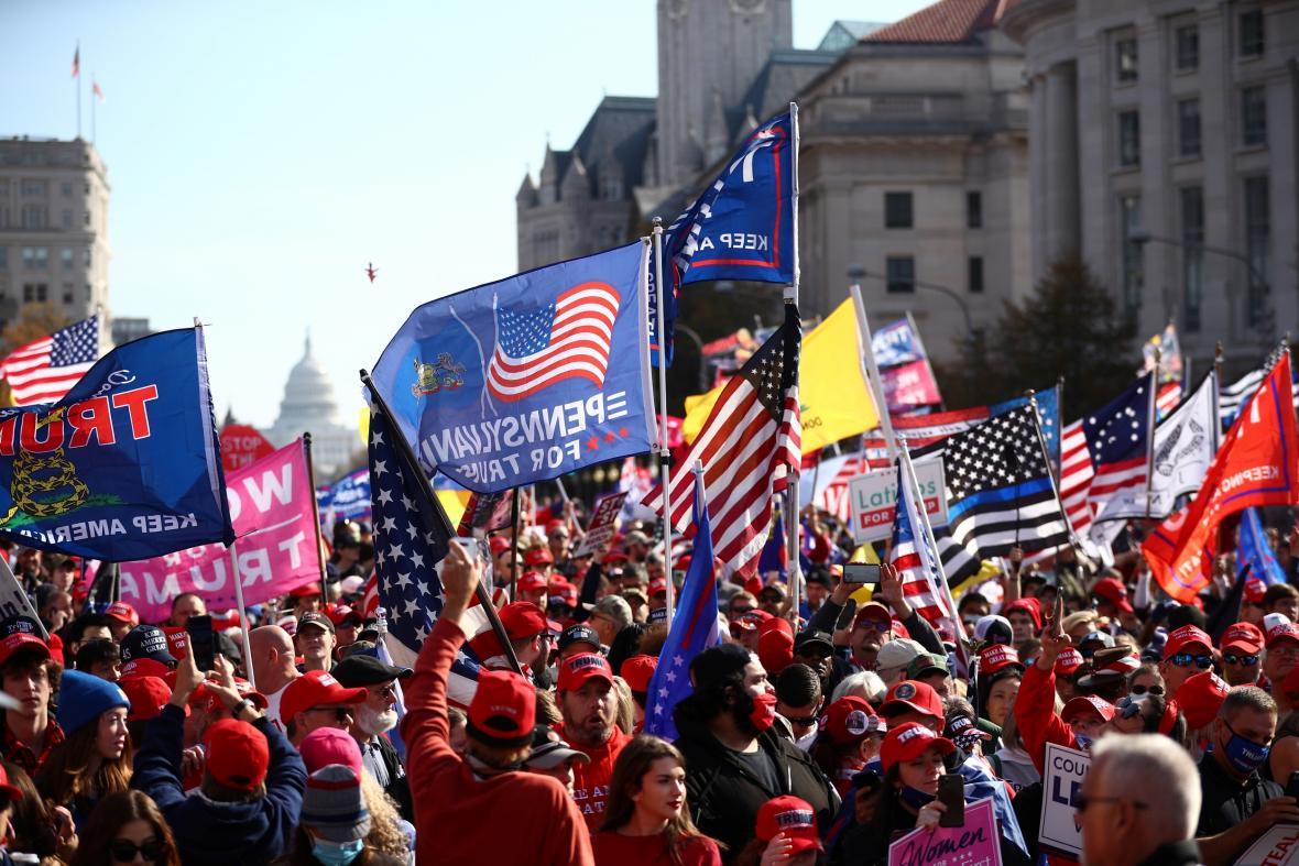 Do Washingtonu dorazili podporovatelé prezidenta Donalda Trumpa