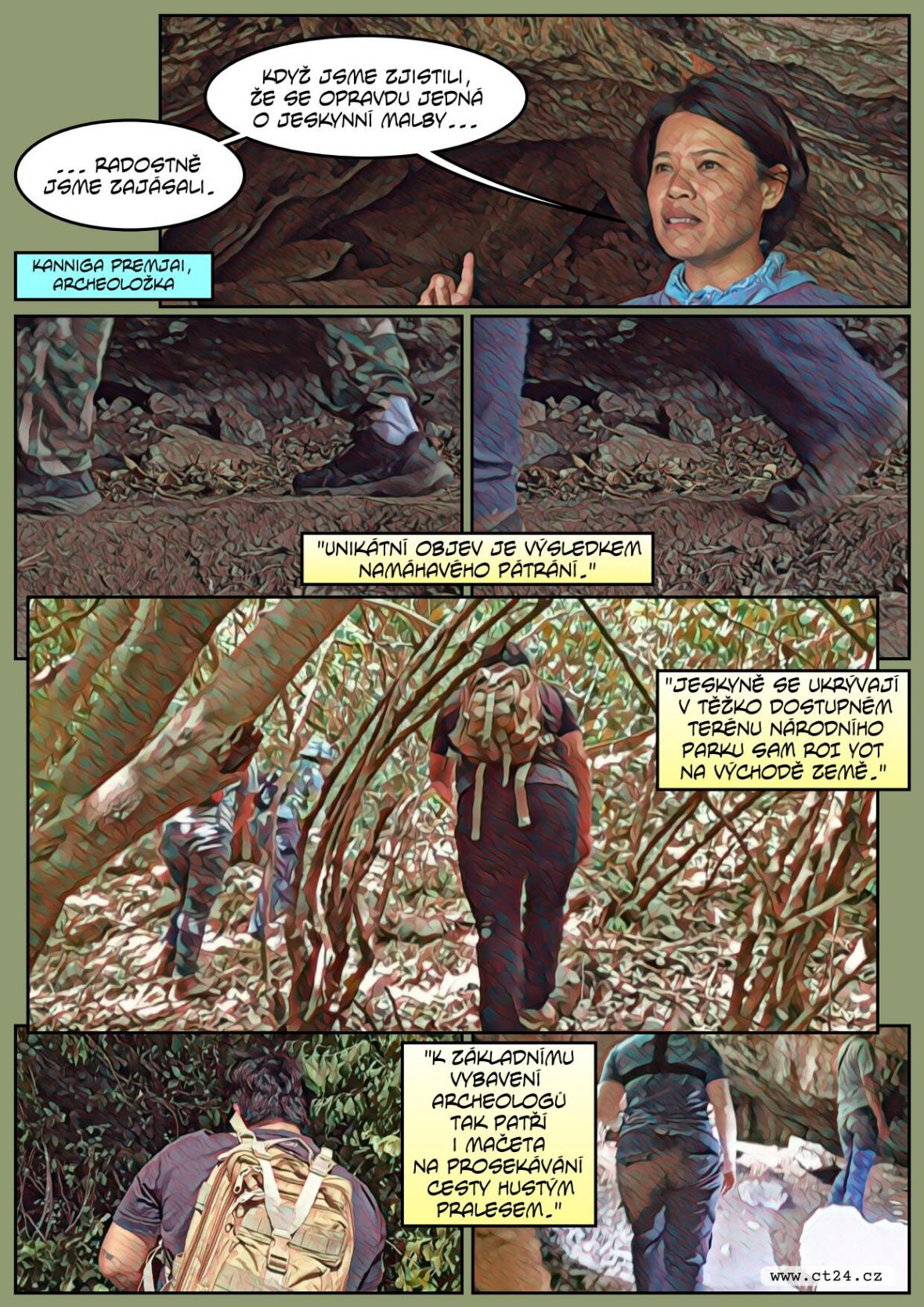 Mobilní aplikace pomohla objevit tisíce let staré jeskynní malby v Thajsku