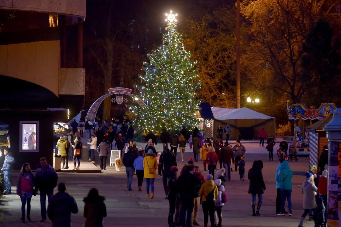 Vánoční stromy a výzdoba měst v roce 2020 není tak okázalá jako v minulých letech