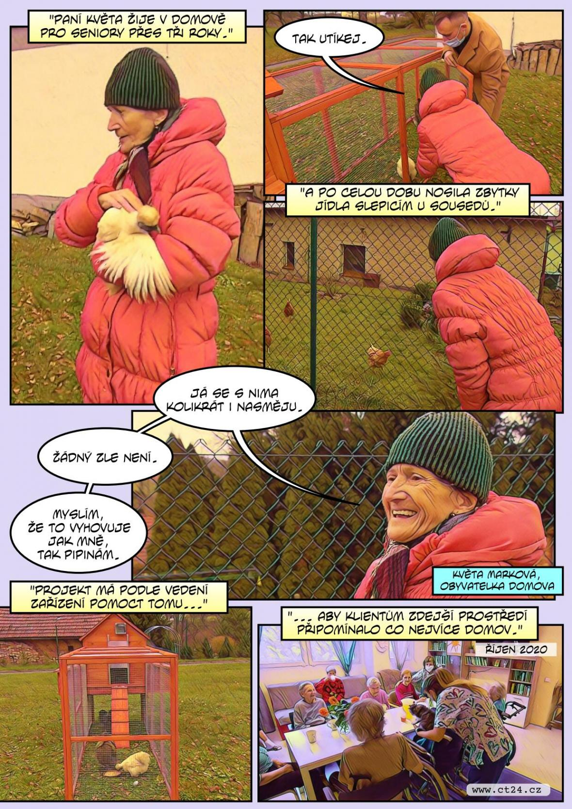 Terapeutické slepice pro seniory