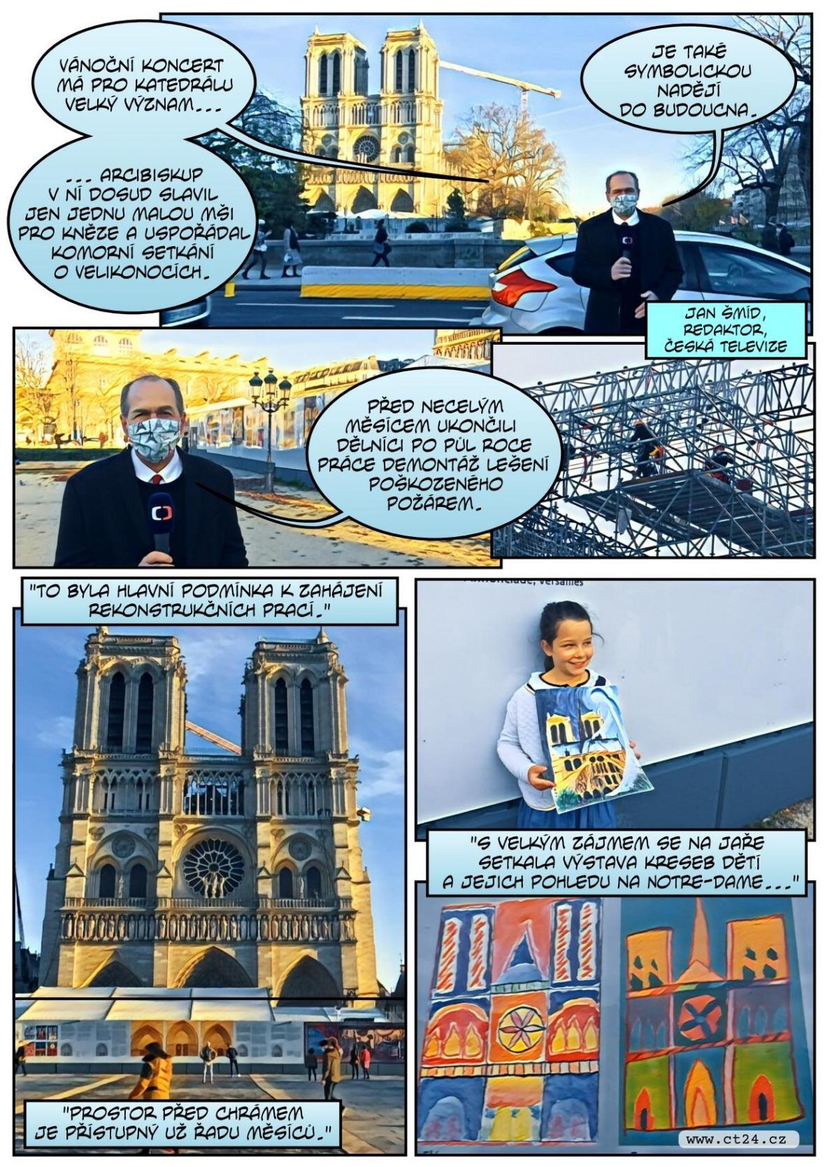 Pařížskou Notre-Dame rozezněl vánoční koncert