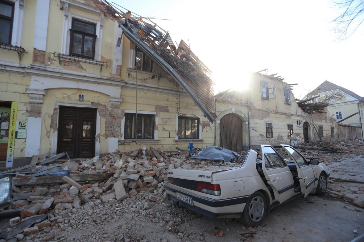 Zemětřesení zasáhlo Chorvatsko