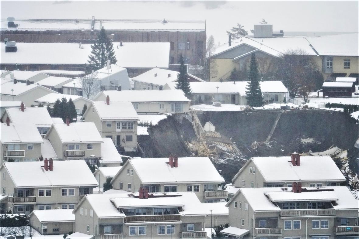 Sesuv půdy v Norsku